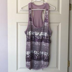 Express Lavender Sequin Tank